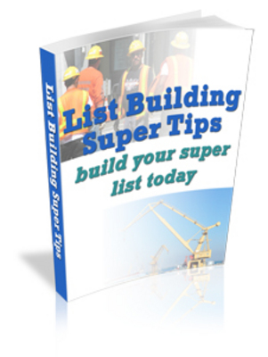 Pay for List Building Super Tips(mrr)