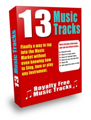Pay for Brand New 13 Music tracks - Master Resell License