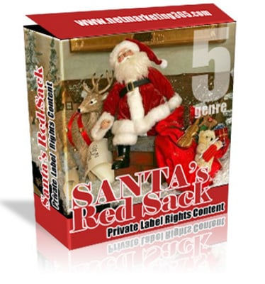 Pay for Santas Red Sack With MRR & PLR!! *Brand New*