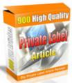 Thumbnail 900 PLR Articles High Quality