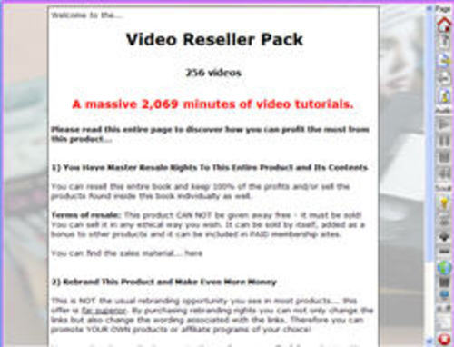 Pay for Video Reseller Pack- With Master Resell Rights Included