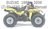 Thumbnail 1987 - 2006 SUZUKI LT-80 LT80 Repair Service Manual ATV PDF