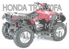 Thumbnail HONDA TRX650 RINCON 650 2003 Service Manual