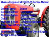 Massey Ferguson MF-35 FE-35 Service Manual  MF-35 FE-35
