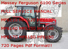 Thumbnail Massey Ferguson 6100 Series tractor service manual