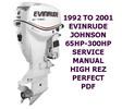 Thumbnail 1992 TO 2001 JOHNSON EVINRUDE 65 T0 300HP SERVICE MANUAL PDF