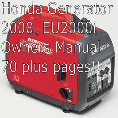 honda generator eui  owners manual  manuals