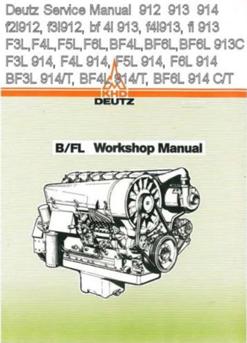 deutz 912 913 914 engine shop repair service manual download down rh tradebit com Deutz 912 Engine Deutz Tractors