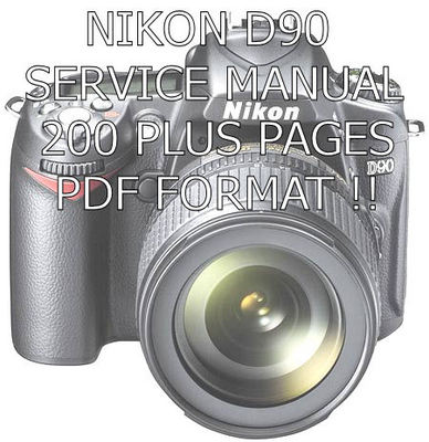 nikon d90 slr camera service manual download manuals technical rh tradebit com nikon d90 manual download pdf nikon d90 manual portugues download