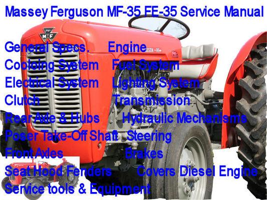 massey ferguson mf 35 fe 35 service manual mf 35 fe 35. Black Bedroom Furniture Sets. Home Design Ideas