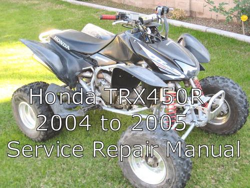 honda trx450r  trx 450r  trx 450 r service repair manual downl trx 450r service manual 2007 honda trx450r service manual