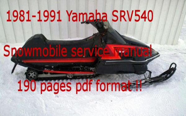 pay for yamaha srv540 srv 540 snowmobile service manual 1981-1991