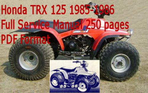 Honda Trx 125 1985-1986 Service Manual Download