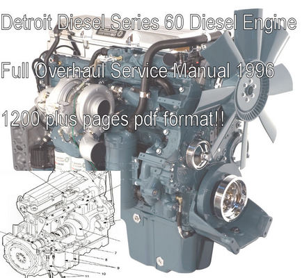 Pay for Detroit Diesel Series 60 Service Shop Manual Download