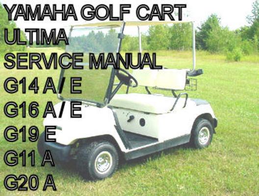 Yamaha electric gas golf cart car g11 g14 g16 g19 g20 shop for Yamaha golf cart repair near me