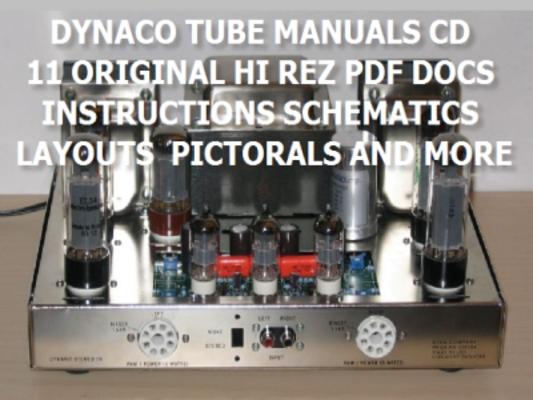 Pay for DYNACO TUBE AMP MANUALS