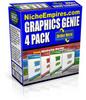 Thumbnail Graphics Genie 4 Pack Sales Pro Templates