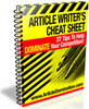 Thumbnail Article Writers Cheat Sheet with Resell Rights