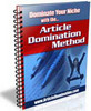 Thumbnail Article Domination Method with Master Resell Rights