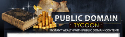 Thumbnail Public Domain Tycoon  MRR Ebook & Upgrade Video + Audio gift