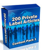 Thumbnail 200 PLR Articles Content Pack #1