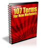Thumbnail 107 Terms For New Marketers - Ebook with MRR