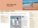 Thumbnail Enjoying the Ocean - WP Template with PLR