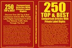 Thumbnail 250 Top & Best comparison Articles - Articles with PLR