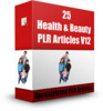 Thumbnail 25 Health & Beauty PLR Articles V12 ( Articles with PLR License)