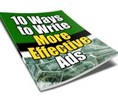 Thumbnail 10 Ways to Write More Effective Ads - eBook with MRR