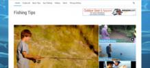 Thumbnail Fishing Tips Blog - WP Blog with PLR