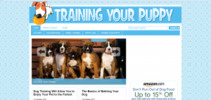 Thumbnail Train Your Puppy Blog - WP Blog with PLR