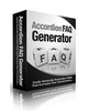 Thumbnail Accordion FAQ Generator Software
