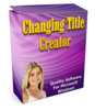 Thumbnail Changing Title Creator - Software with MRR