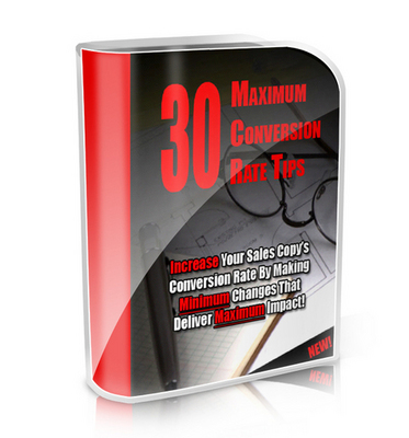 Pay for 30 Maximum Conversion Rate Tips  with PLR