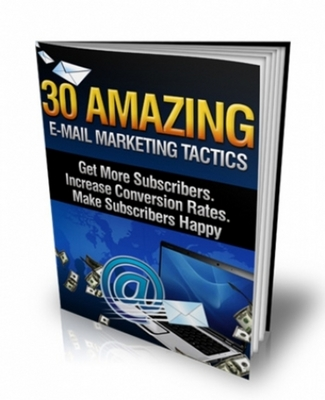 Pay for 30 Amazing E- Mail Marketing Tactics with MRR