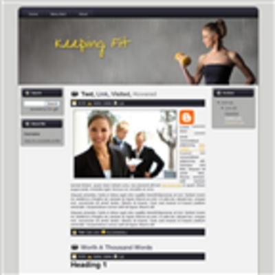 Pay for Keeping Fit Theme Wordpress Blogger And HTML Template with M
