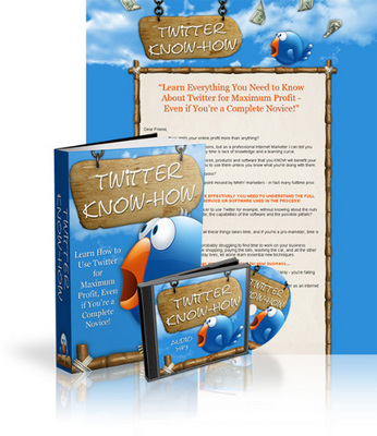 Pay for Twitter Know How with EBOOK,MP3 EBOOK and MRR