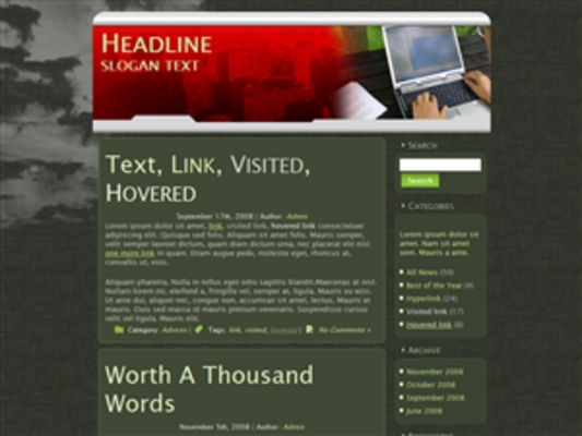 Pay for 3 Laptop Theme Blogs