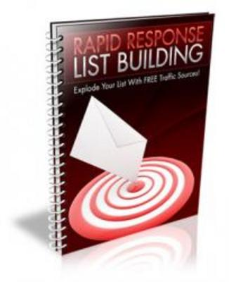 Pay for Rapid Response List Building with Resell Rights