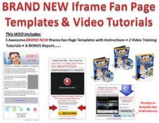Facebook Fanpage Marketing Resale Fanpage iFrame Templates - Downl...