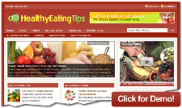 Pay for Healthy Eating Tips Niche Blog with RR