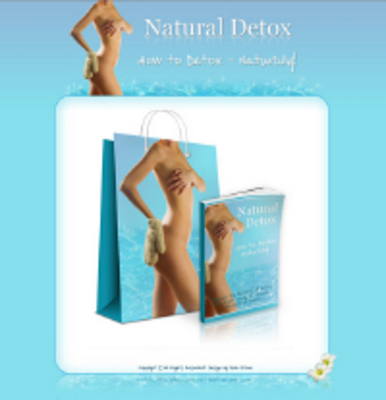 Pay for Natural Detox Minisite Graphics and Content with  PLR