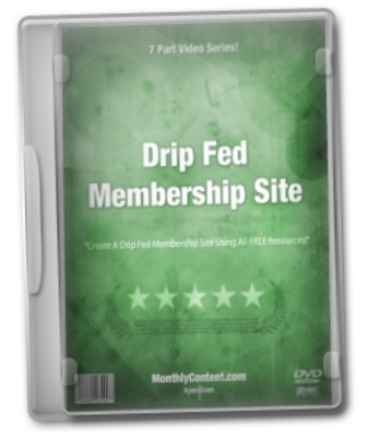 Pay for Create Membership Site a Drip Fed Video