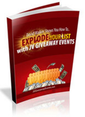 Pay for Explode Your List With JV Giveaway Events with PLR