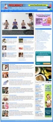 Pay for Pregnancy Website with PLR