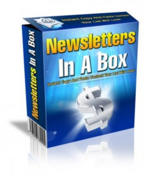 Pay for Newsletters in a Box - Newletters with PLR
