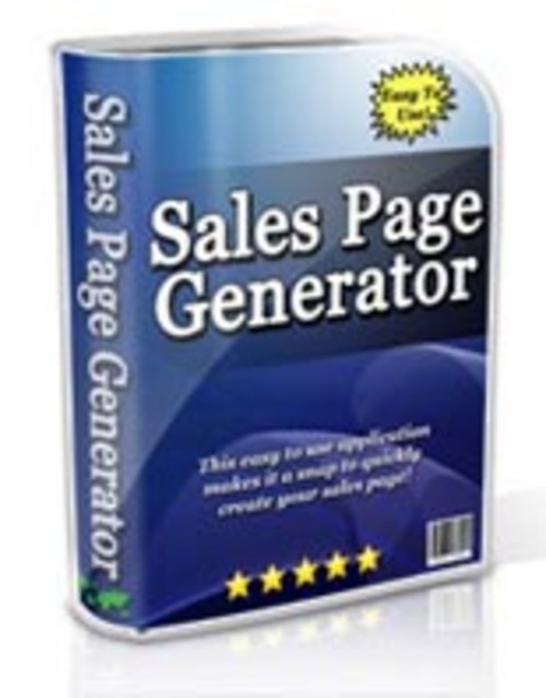 Pay for Sales Page Generator - Software & Video