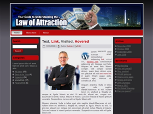 Pay for Law of Attraction Theme - WordPress & HTML Theme with PLR