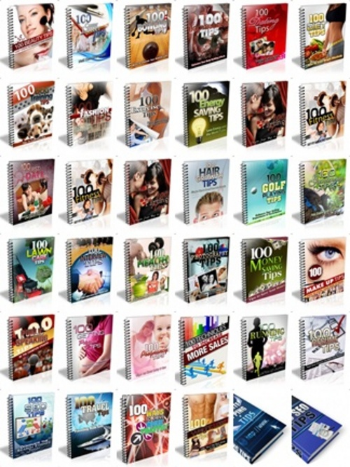 Pay for 100 Tips Ebooks - 34 Ebooks
